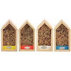 Kolorowy domek dla dzikich pszczół