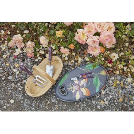 Zestaw passiflora klęcznik Kneelo®, sekator, łopatka i widełki oraz koszyk