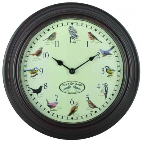 Zegar z odgłosami ptaków