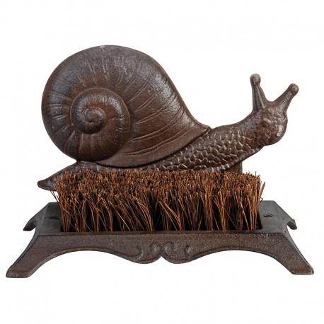 Wycieraczka do butów żeliwna z włóknem kokosowym ślimak
