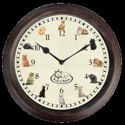 Zegar z odgłosami natury koty