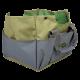 Taboret granatowy stołek ogrodowy z przypinaną torbą narzędziową