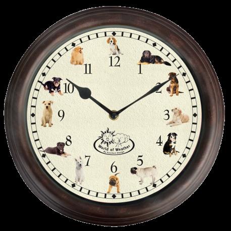 Zegar z odgłosami natury psy