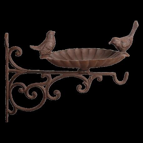 Karmnik dla ptaków żeliwny do zawieszenia na ścianie