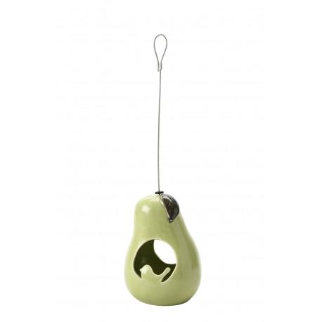 Ceramiczny karmnik dla ptaków  w kształcie gruszki