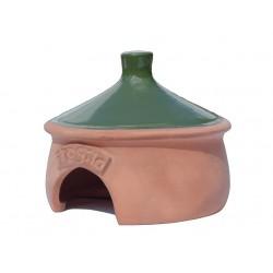 Duży ceramiczny domek dla ropuchy żaby