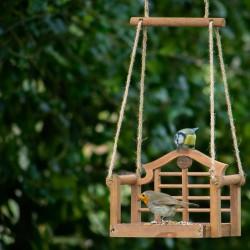 Karmnik dla ptaków w kształcie huśtawki