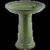 Bardzo duże ceramiczne poidło dla ptaków zielone