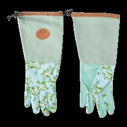 Długie damskie rękawiczki do prac ogrodniczych