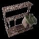 Żeliwny stojak na kalosze