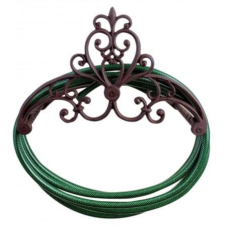 Żeliwny wieszak na wąż ogrodowy