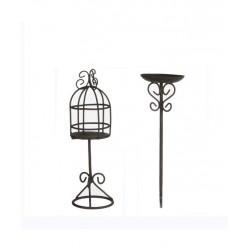 Mini ogródek poidełko oraz  klatka dla ptaków