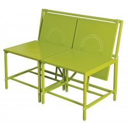 Składany stolik balkonowy z dwuosobową ławką