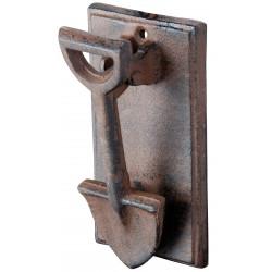 Kołatka do drzwi żeliwna w kształcie łopaty