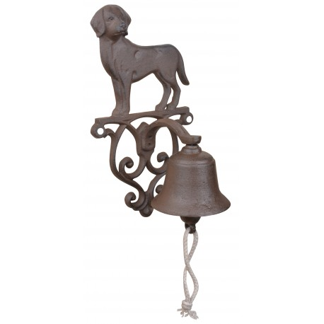 Żeliwny dzwonek w kształcie psa