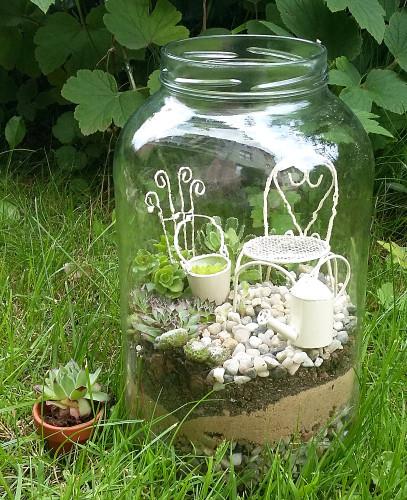 mini ogród w słoiku